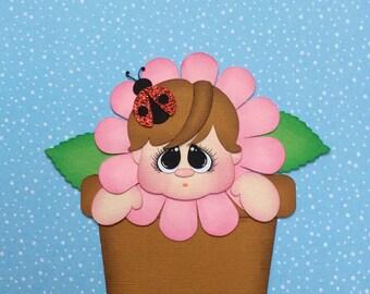 Flower baby paper piecing scrapbook embellishment