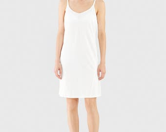 White Organic Slip Dress