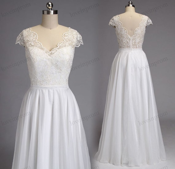 vintage lace beach wedding dress boho wedding by loveinprom