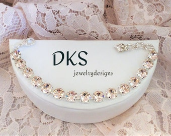 Design Your Own, Swarovski Bracelet, 8mm, Bridesmaid Gift, Choose Your Finish, Choose Your  Colors, DKSewelrydesigns,FREE SHIPPING