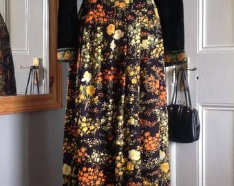 1970s, Arts & Crafts, boho style maxi dress size 12 (uk)
