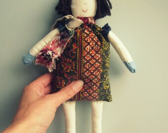 Handmade doll, Handmade cloth doll, Rag Doll, Art Doll, Heirloom Doll, Fabric Doll, Textile doll, Scottish gifts, Primitive folk doll