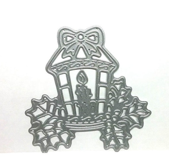 Christmas Candle Lantern And Holly Design Metal Die Cutting Dies For Paper Card Scrap Booking Craft Cutters From