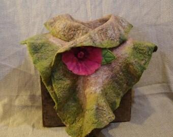 Reversible Wool and Silk Ruffle Scarf