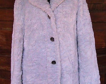 Reworked Vintage Lilac Fake furJacket by BananaMoonCreations