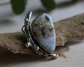Twiggy- Ocean Jasper-Sterling Silver Pendant