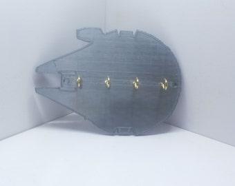 """Millennium Falcon Star Wars Key Holder Key Rack Key Organizer Jewelry organizer 5 7/8"""" x 4 1/4"""""""