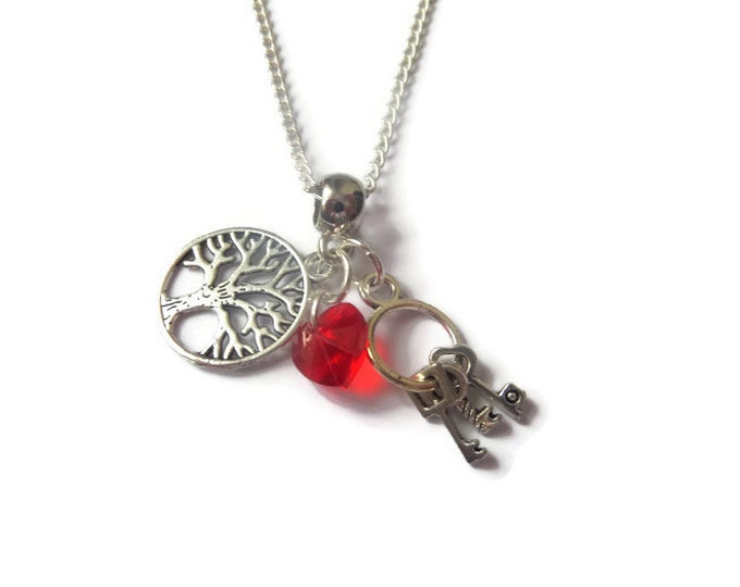 ONCE UPON a TIME inspired charm tibetan silver necklace Regina Mills Evil Queen ouat fan gift jewellery Uk
