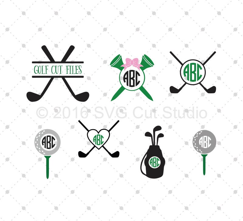 Golf Svg Cut Files Golf Monogram Frame Svg Cut Files For