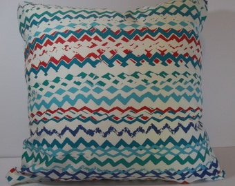 Multi colored throw pillow cover 18 x 18 decorative pillow cover accent pillow