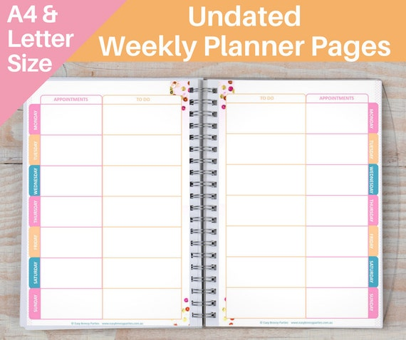 FREE A6 Traveler's Notebook Printable Inserts - Undated ...