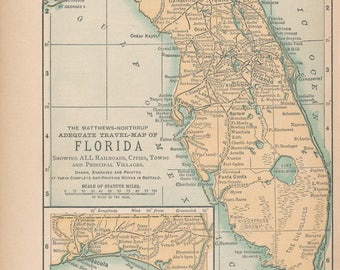 1893 Florida Antique Map