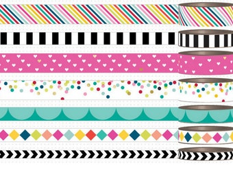 Me and My Big Ideas - Brights  - Washi Tape Create 365 Collection  Happy Planner Mambi