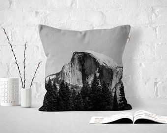 Half Dome Close Up, Yosemite California, Outdoor or Indoor Pillow Cover, Pillow Case
