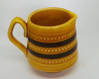 Sadler England vintage milk jug . Mustard and Chocolate retro design