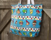 Super Mario Mini Tote, Shopping Bag, Tote, Grocery Bag, Reusable, Vegan
