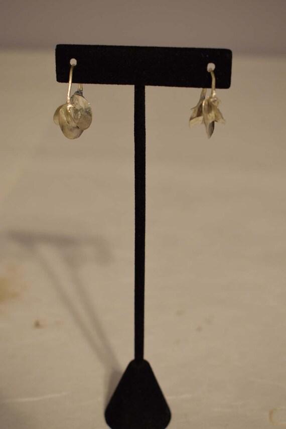 Earrings African Fulani Vintage Brushed Silver Fulani Women Earrings Handmade Brushed Silver Women Tribal Earrings