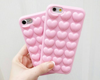 3D Heart Bubble Candy Pink IPhone Case for IPhone 6 and 6s 6 plus and IPhone 7 and 7 plus