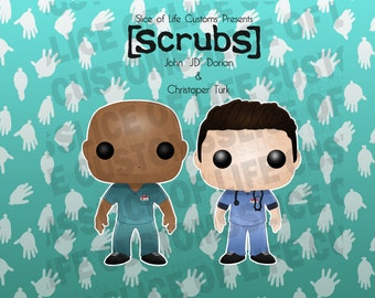 Scrubs Funko POP! Vinyl Custom Bundle - JD & Turk