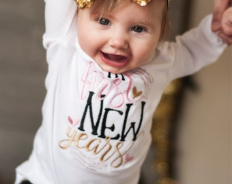 My first New Years - Body Suit Embroidered