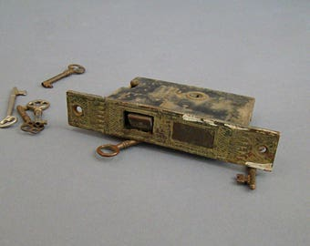 PF Corbin Lock; P&F Corbin; Vintage Lock; Mortise Lock; Antique Lock; Mortise; Assemblage; Industrial; Architectural Salvage; Faceplate