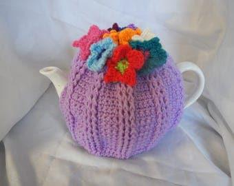 Pansy Tea Cosy 4 cup.  Lavender