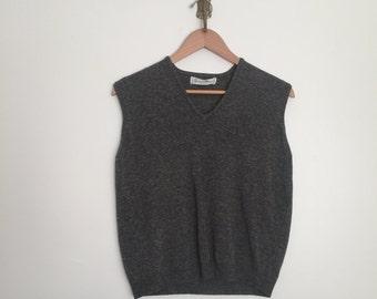 vintage 50's lambswool sweater vest