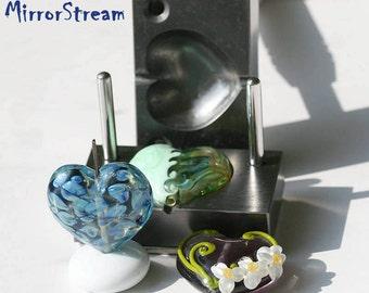 Stamp-  heart  lampworking, lampworking tool