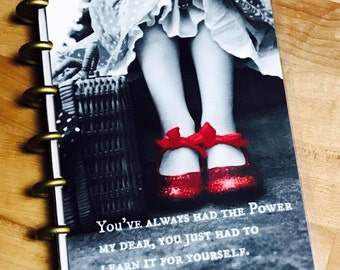 Front and Back Cover Set Red Slipper Quote for use with the MINI Happy Planner