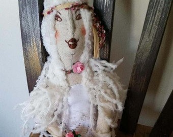 Quirky Vegan OOAK Handmade Ethereal Boho Bride