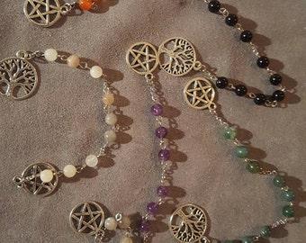 Gemstone Worry beads - AMETHYST - 9 beads