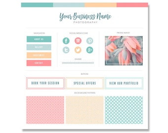 Blog Branding Kit / Blog Kit / Branding Kit / Blogger Kit / Social Buttons / Homepage Tabs / Patterns  / Blog Design Kit / Blog Graphics