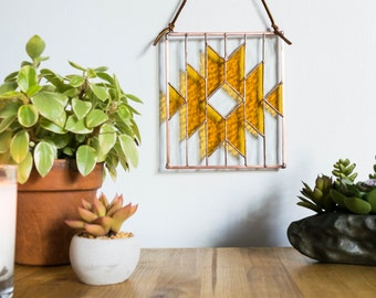 SALE 10% Southwest Stained Glass Panel (Original 70.00)
