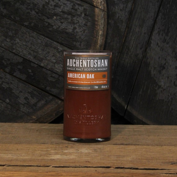 Auchentoshan Scotch Whiskey Candle, Gift For Valentines, Valentines Guy Gift, Valentines Gift For Boyfriend, Gift For Valentines Day