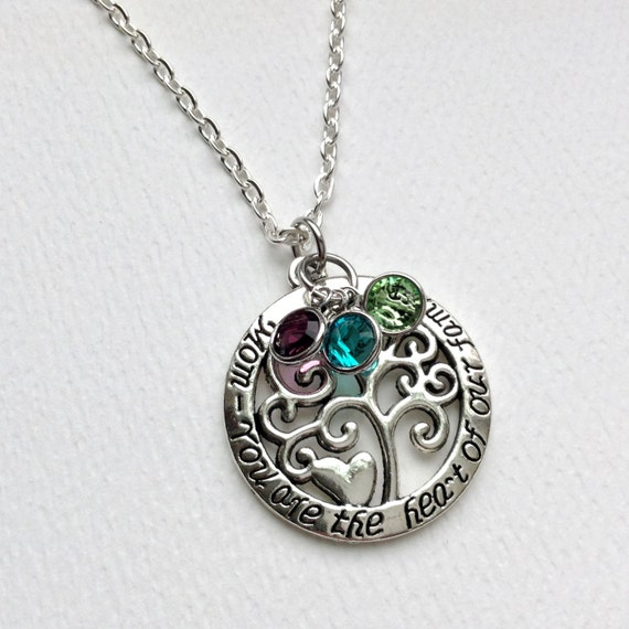 Mom necklace mom tree of life necklace christmas gift for mom for Jewelry for mom for christmas