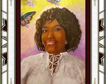 Custom acrylic portraits hand-painted one-of-a-kind   fantasy portraits for birthdays  or any occasion