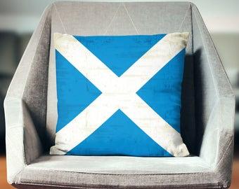 Scottish Gifts | Scottish Flag Pillow | Scottish Decor | Scottish Pillow | Scotland Flag | Scottish Throw Pillow