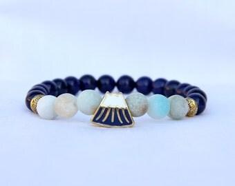 Womens Gift for Womens bracelet for Women bead bracelet Mountains Jewelry Mountains bracelet amazonite Jewelry amazonite bracelet aventurine