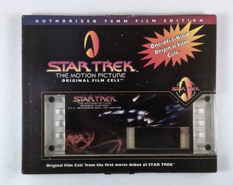 Star Trek Film Cel, Enterprise NCC-1701 Edition, No. 01121, Vintage 70 mm Film Cell, Original Box, One of a Kind Gift