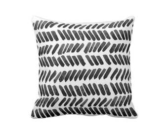 Watercolor Pillow Black White Dashes Brushstrokes Paint Strokes Tribal Pillow Boho Decor Minimalist Pillow Abstract Pillow Geometric Dots