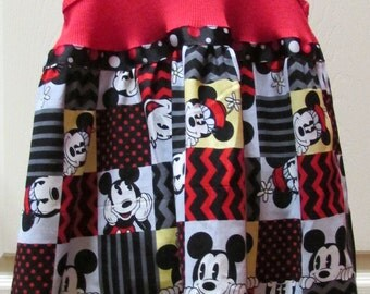 Mickey Mouse Dress, Disney Dress, Tank Top Mickey Dress, Size 2T Dress, Ready to Ship Dress