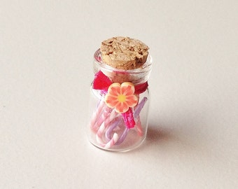 Miniature Candy Canes in Glass Jar | Dollhouse Miniature Food