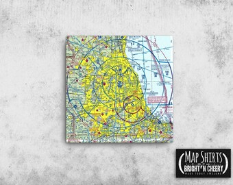 Custom Aviation Chart Canvas print, FAA Chart print, ready to hang gallary wrap canvas print, aeronautical chart print