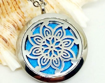 30 mm Essential Oil Locket, Photo Locket, Aromatherapy Locket, Oil Diffuser, Homeopathic Jewelry, 316L Stainless Steel, Gift For Her