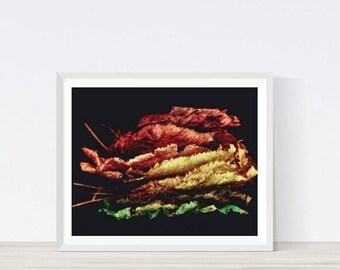 Fall, Autumn Leaves, Autumn Decor, Fall Decor, Fall Photography, Fall Wall Art, Autumn Print, Leaves, Leaf, Leaf print, Leaf poster,#M11