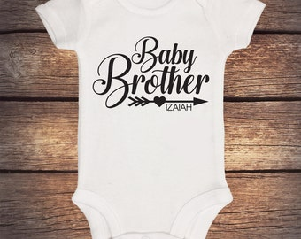 Baby Brother Onesie - Personalized Shirt - Sibling Shirt - Baby Announcement - Pregnancy Announcement - Big Brother - Little Brother