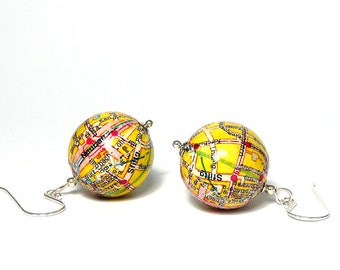 Earrings Vienna 7th District Vienna City Map gift wrapping for you gift for travelers