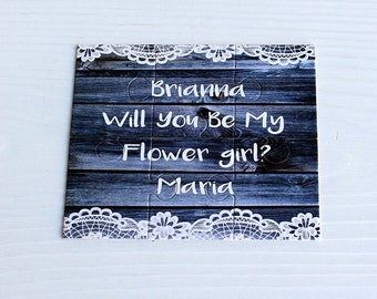 Will You Be my Flower girl Puzzle, Proposal  Flower girl,  Ask Flower Girl card, Will You Be our Flower girl puzzle invitation, Flower girl