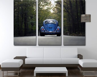 VW Wall Art Retro Car Wall Art Beetle Canvas Retro Car Wall Decor VW beetle Poster VW Beetle Wall Decor Retro Car Canvas Beetle Wall Decor