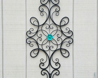 Wrought Iron Wall Decor , Metal Wall Art,  Black Home Decor, Flower Wall Art, Black Metal Wall Decor, Metal Wall Decor, Black Metal Wall Art